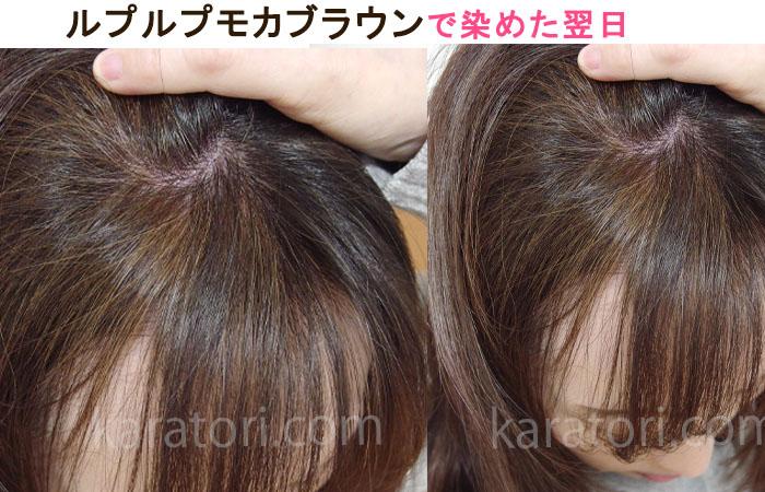 ルプルプモカブラウンの前髪のとこの色味