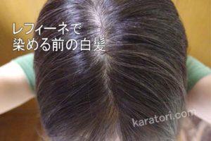 レフィーネヘッドスパで染める前の白髪