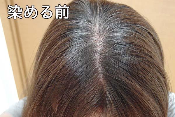 染める前の白髪